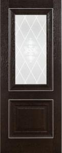 Катрин классика темный дуб стекло